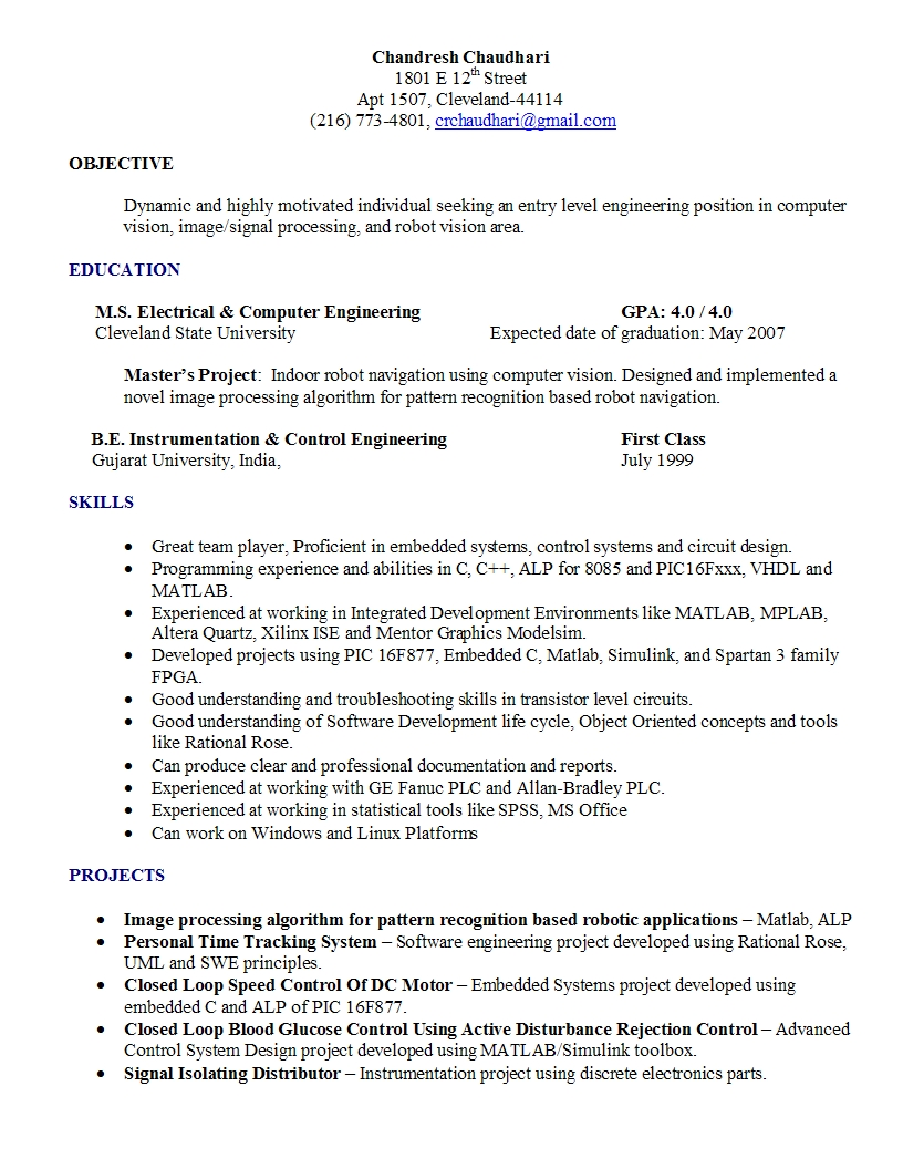 Attached you can find a copy of my resume